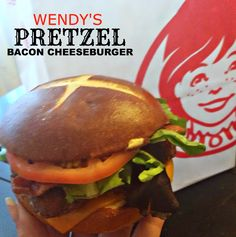 The Food Hussy!: Fast Food Review: Wendy's Pretzel Bacon Cheeseburger