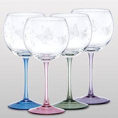 Butterfly Meadow® 4-piece Balloon Wine Glass Set by Lenox