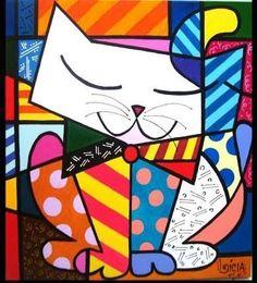 10 ideas más para tu tablero Arte con gatos