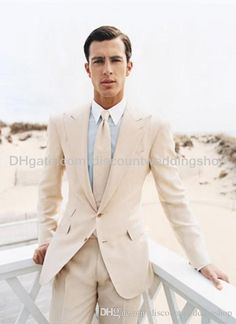 Free shipping, $78.6/Piece:buy wholesale Groom Tuxedos Two Buttons Light Beige Groomsmen Peak Lapel Best Man Mens Wedding Suits Bridegroom (Jacket+Pants+Girdle+Tie) NO:722 from DHgate.com,get worldwide delivery and buyer protection service.