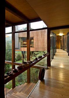 Waterfall Bay House. Waterfall Bay, Marlborough Sounds, New Zealand.