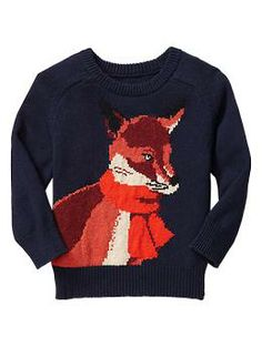For those of you obsessed with #whatdoesthefoxsay? @GapKidsBabyGap Intarsia fox sweater had everyone talking to my #toddler