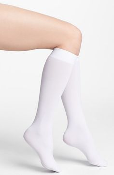 DKNY Opaque Microfiber Knee Highs (2 for $15) available at #Nordstrom