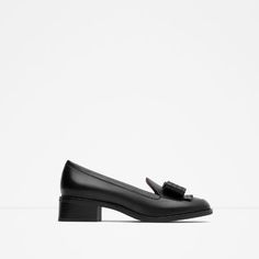 Image 1 of LEATHER LOAFERS WITH BOW from Zara