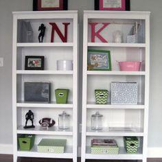 His & Hers Office Bookshelf Decor {Home Office}