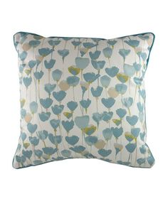 Duck Egg Tulips Filled Cushion by Evans Lichfield Cushions on #zulilyUK today!