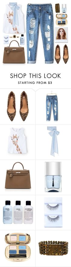 """""""Untitled #943"""" by celida-loves-pink ❤ liked on Polyvore featuring Mode, H&M, MANGO, MDS Stripes, Hermès, Nails Inc., philosophy, Dolce&Gabbana, Chanel und Charlotte Russe"""