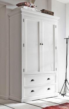 White wardrobe ensures a refined room appearance Wardrobe Drawers, Bedroom Wardrobe, Wardrobe Closet, White Wooden Wardrobe, White Wardrobe, Modern Bedroom Furniture, Home Decor Furniture, Bedroom Decor, Wardrobe Makeover
