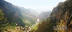 《우리 민족끼리》 - 신평금강의 도화동골짜기 전경