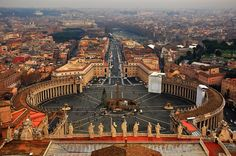 St. Peter's Square, Vatican City, Italy via pxleyes.com