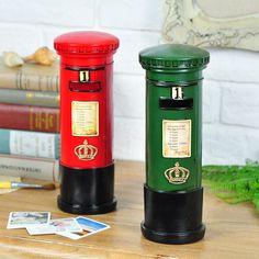 Dekoratif İngiliz Londra Posta Kutusu Tasarımlı Kumbara - Kırmızı :: www.eyyahali.com