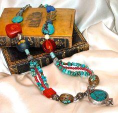 thejoymooscollection | TIBETAN Nepalese Tribal Necklace by TheJoyMoosCollection, $285.00