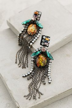 Fringed Amber Drops - anthropologie.com #anthrofave