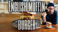English muffin burger