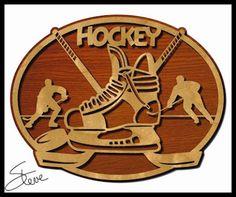 Hockey Plaque Scroll Saw Pattern.