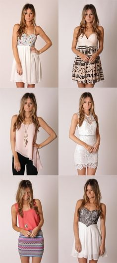 Love all of these outfits- all of which are perfect for summer and spring!
