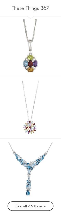 """""""These Things 367"""" by katiemarilexa ❤ liked on Polyvore featuring jewelry, pendants, multicolor, gem jewelry, oval pendant, sterling silver charms pendants, sterling silver jewelry, gemstone pendants, gem pendants and charm pendants"""