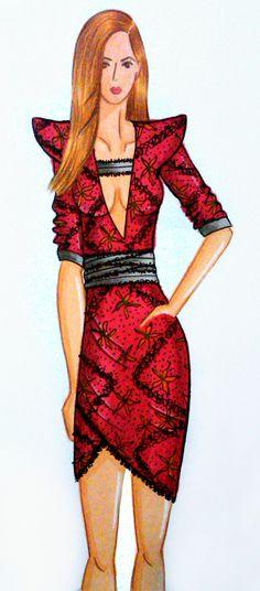 Ilustración de Moda  A by Michelle Ochoa, via Behance