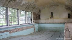 Abandoned Swimming Pool -   Photos from Olympic Village (Olympisches Dorf) - Berlin