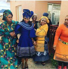 The blue dress African Wear Dresses, African Wedding Dress, African Attire, African Weddings, African Inspired Fashion, African Print Fashion, Africa Fashion, African Traditional Wear, Traditional Fashion