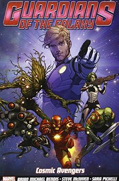 17. GUARDIANS OF THE GALAXY: COSMIC AVENGERS. Star-Lord, Gamora, Groot, Drax, Iron Man, and Rocket re-form the Guardians of the Galaxy in this comic that's not unlike the movie. This book is worth the read for the witty banter and awesome art alone.