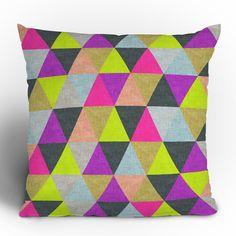 DENY Designs Bianca Green Ocean of Pyramid Throw Pillow
