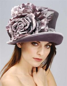 LOUISE GREEN LAVENDER TOP HAT >> Victorian Trading Co >> $399.95