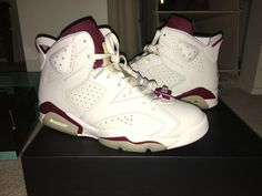 Air Jordan Retro 6 Maroon Size 9  fashion  clothing  shoes  accessories   c09b3c7c9