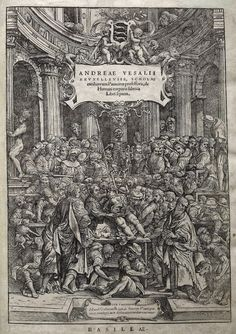 Anatomy Lesson On Title Page Of De Humani Corporis Fabrica Libri Septem (On The Fabric Of The Human Body In Seven Books) By Andreas Vesalius, Published Basel, This Image After A Century Reproduction. Poster Print x Andreas Vesalius, Trait D Union, Title Page, Medical History, Human Anatomy, Michelangelo, Human Body, Renaissance, City Photo