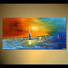 modern abstract art - Ocean Song