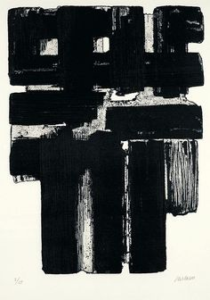 Pierre Soulages black contemporary painting