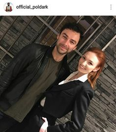 From Official Poldark on Instagram. S3 launch at BBC. Aidan casual as usual , Eleanor always glammed up!