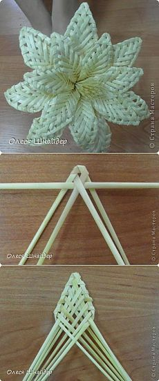 Can weaving for basketry and home decor tutorials. Flax Weaving, Straw Weaving, Willow Weaving, Paper Weaving, Weaving Art, Weaving Patterns, Basket Weaving, Flower Crafts, Diy Flowers