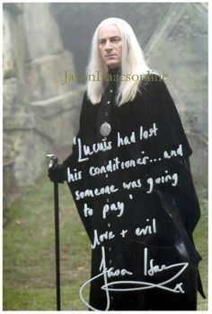Jason Isaacs (I knew him from the series Brotherhood..never knew he was Lucius Malfoy until Pinterest educated me!!)  CSA