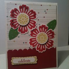 Birds of a Feather Designer Series Paper. Stampin' Up In Colors Raspberry Ripple, Gumball Green and Summer Starfruit.