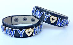 Charmsations - Navy Mom or Wife Wide Leather Bracelet, $14.00 (http://www.charmsations.com/navy-mom-or-wife-wide-leather-bracelet/)