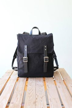 e68b9170f4 Canvas backpack Waterproof canvas backpack Leather backpack Canvas rucksack  Laptop backpack Canvas l
