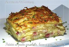 Patatas al gratén con cebolla, bacon y queso Manchego.  Receta en mi Blog: https://lacocinadelolidominguez.blogspot.com.es/2016/10/patatas-al-graten-con-cebolla-bacon-y.html Videoreceta en You Tube: https://www.youtube.com/watch?v=CPZcqqdeRGs