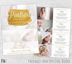 Photography Pricing Template, Price Sheet, Photography Price List, Photography Pricing, Photoshop Template, Pricing Guide - 01-008