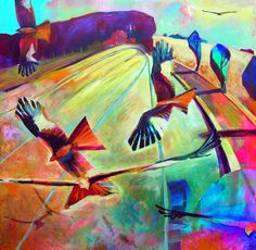 Red Kites in flight by Sue Fawthrop