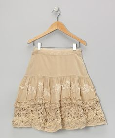 Take a look at this Pebble Knit Flower Ruffle Skirt by Da-Nang on #zulily today!