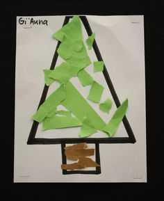 Pre-K students at Meeting Street Academy, in Charleston, SC  demonstrated fine-motor strength and coordination to create their Paper Torn Christmas Trees.  MSA founder Ben Navarro champions educational opportunities for under-resourced families.  Elementary art education is a key component of his vision.  #MeetingStreetAcademy #Art #Education  #SCSchools #BenNavarro #ShermanFinancialGroup