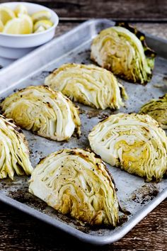 Low-Carb Roasted Cabbage with Lemon is a perfect side dish for corned beef or any other kind of meat. And this roasted cabbage is amazing for a low-carb side dish, and it's also Keto, low-glycemic, gluten-free, dairy-free, vegan, Paleo and Whole 30! Use the Diet-Type Index to find more recipes like this one. Click here to PIN Low-Carb…