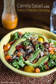 Carnita Salad with Citrus Chipotle Dressing by Back to the Cutting Board