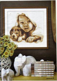 schema punto croce bambino con cane | Hobby lavori femminili - ricamo - uncinetto - maglia