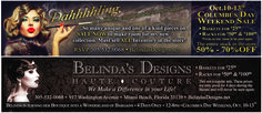 Belinda's Designs in South Beach Invites You to  Indulge in Elegance and Champagne, October 10, 11, 12, and 13!