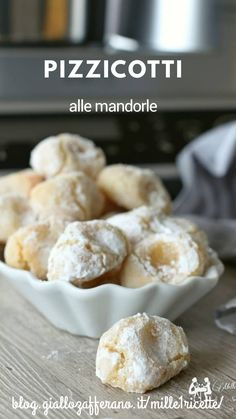 Mini Desserts, No Bake Desserts, Dessert Recipes, Biscotti Cookies, Biscotti Recipe, Almond Paste Cookies, Friend Recipe, Sweet Pastries, Italian Cookies