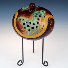 Copper Carve Small by Claudia Pflueger