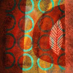 The Old Cells Studio - Michèle Brown Art: Leaf - iPad painting. so much more wonderful pieces on the blog link.