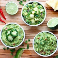Paleo Guacamole 3 Ways (Classic, Sweet & Spicy)